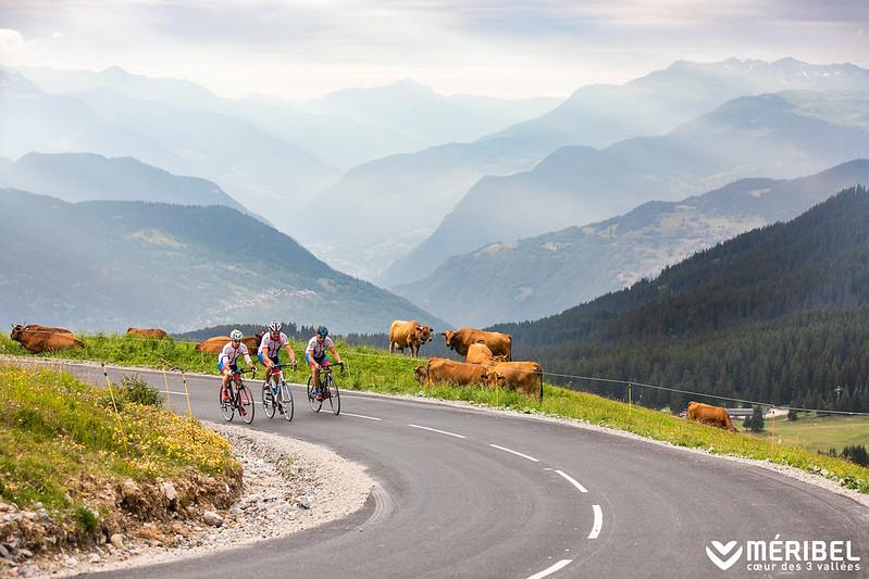 Road Cyclists Meribel